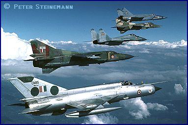 Indian Air Force mixed MiG formation